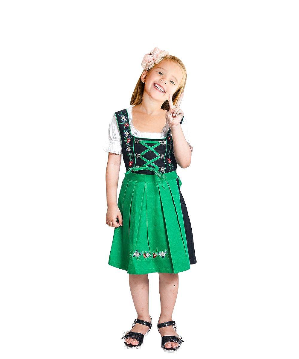 Modèle  Dik07 Enfants Dirndl 3 ans Vdik09 Enfants Dirndl, de Nombreux Modèles de Différentes Tailles (3-14 Ans) et la Couleur, en 3 Parcravates Costume de Robe Set, Robe Chemisier et Jupe