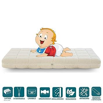 Ever Baby Latex colchón de 100% Látex para niños 60x120 cm: Amazon.es: Hogar