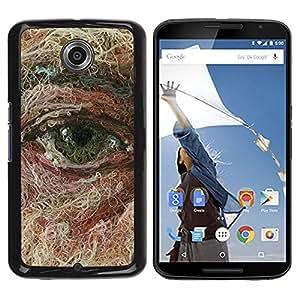 TopCaseStore / la caja del caucho duro de la cubierta de protección de la piel - Face Art Painting Deep Meaning - Motorola NEXUS 6 / X / Moto X Pro