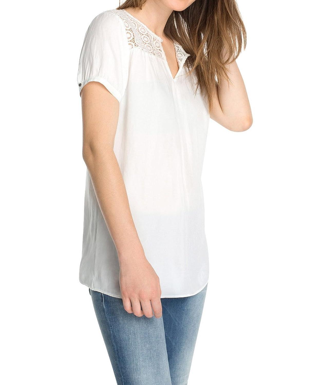 ESPRIT Women's Aus Satin Ware Short Sleeve Blouse