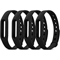 DDJOY Replacement Wristband Case for Pokemon Go Go-tcha, Medium Size (Black, 4-Pack)