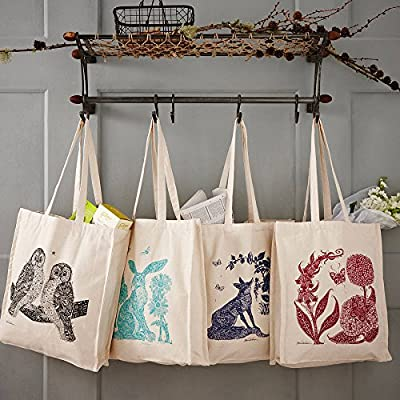"Gree Atmos 5 Pcs- 16.5"" X 15"" Eco Friendly 100% Cotton Grocery/shopping Bag/tote Bag/"