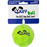 WUFF BALL - The Best Dog Ball Ever! Fun Durable Ultra Bouncy Green Fetch Dog Toy, Fits Ball Launcher