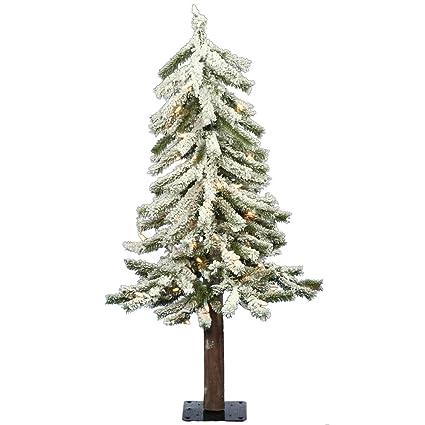 Vickerman 2' Flocked Alpine Artificial Christmas Tree with 50 Clear Lights - Amazon.com: Vickerman 2' Flocked Alpine Artificial Christmas Tree