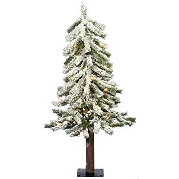 Pvc Christmas Tree Plans.Vickerman 2 Flocked Alpine Artificial Christmas Tree With 50 Clear Lights