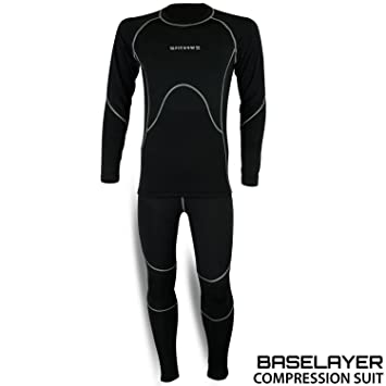 Mens Compression Armour Sports Thermal Base Layer Tights Shirt Pant Under Suit