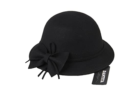 Amazon.com  Dantiya Kids Girls Winter Warm Bucket Hats Fedoras With Belt ( Black)  Clothing 311575313972