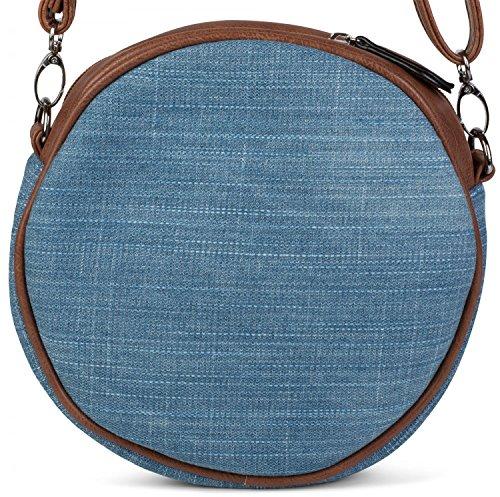 styleBREAKER - Bolso cruzados para mujer Azul azul claro talla única azul claro