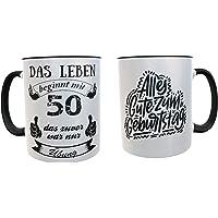 Taza de desayuno regalo original para 50 cumpleaños - regalos para hombres 50 años - regalos 50 cumpleaños mujer (Aleman…