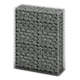vidaXL Gabion Basket w/Lid Retaining Wall Gardens Edging Cage 39.4''x31.5''x11.8''