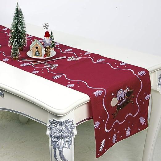 HALOViE Camino de Mesa Decoración de Navidad Corredor Mesa 40 ...