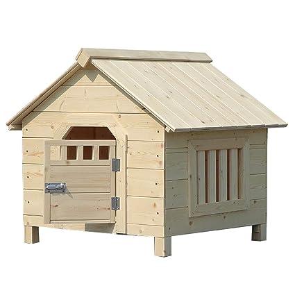 Perreras Casa de Madera Maciza Casa de Mascotas Casa Nido Casa de Gato y Perro Casa