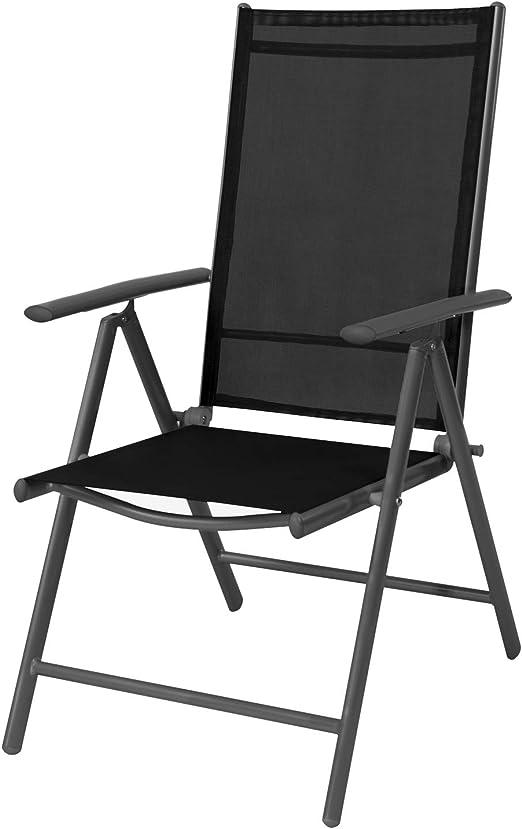 Mojawo - Juego de 2 sillas de jardín (Respaldo Alto, 7 Posiciones ...