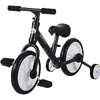 HOMCOM Bicicleta de Equilibrio con Pedales y Ruedas Entrenamiento Extraíbles de Asiento Regulable 33-38cm Niños +24…