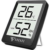DOQAUS Termometro Igrometro Digitale, Termoigrometro LCD con l'Icona di comforto Termometro Ambiente Interni Rilevatore di umidità per Ambienti Misura Temperatura & umidità per Serra/Stanza/Casa