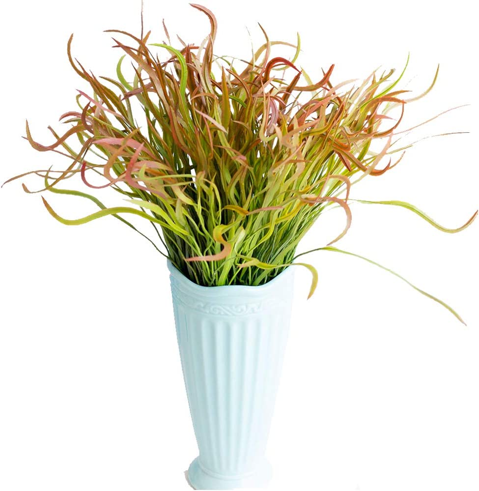 Fycooler 6PCS Artificial Plants Outdoor Greenery,Faux Wheat Grass Bushes,Artificial Shrub Tall Grass Simulation Greenery Plants Indoor Verandah Window Office Wedding Decor Garden Fence Wedding Décor