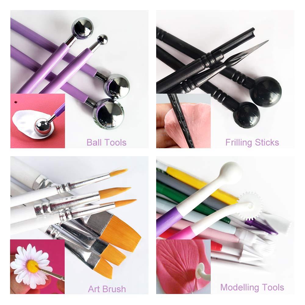 Kit de herramientas para fondant con diseño de flores y hojas, 6 ...