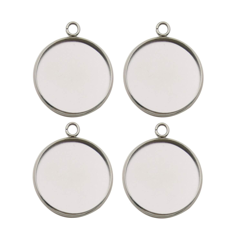 20 Pcs 14mm necklace Jewelry DIY blank round pendant cabochon Settings base
