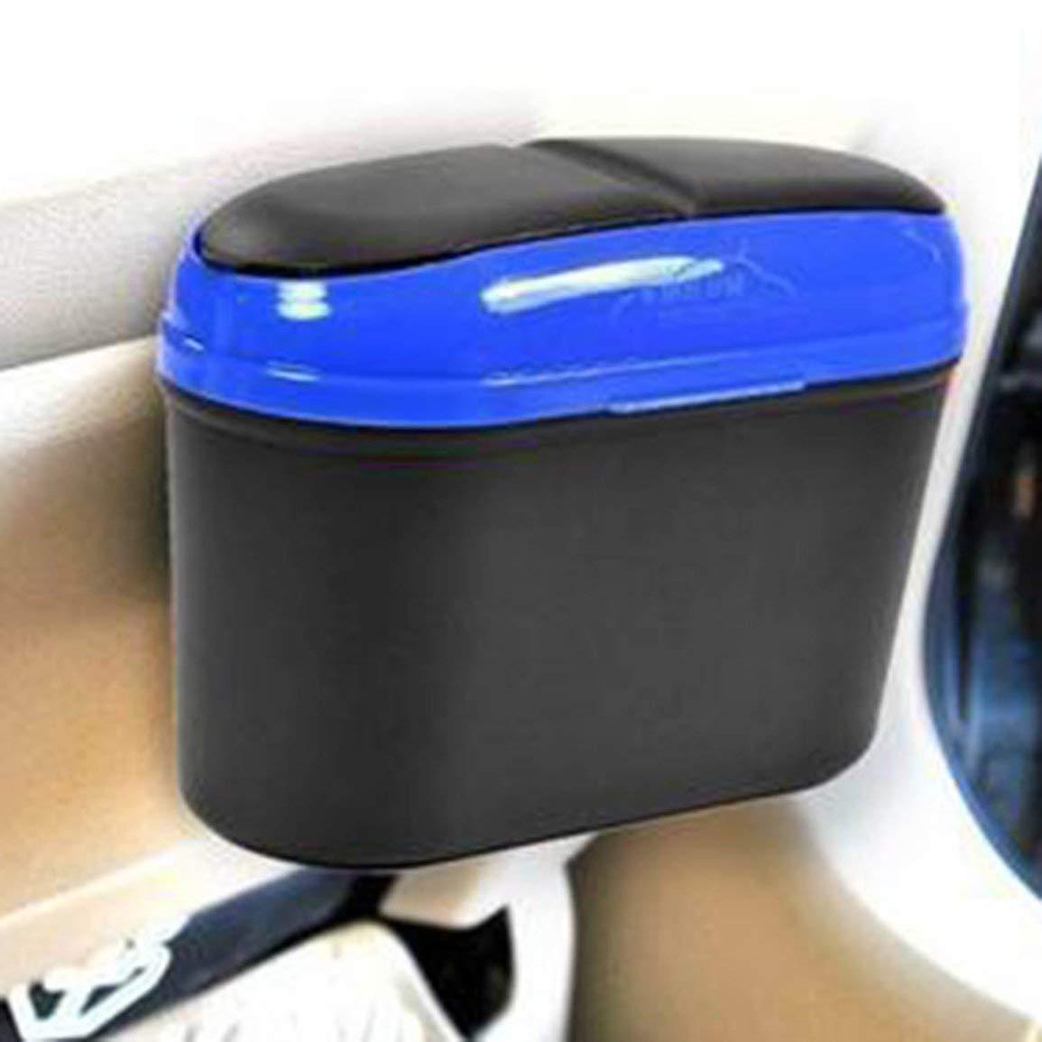 Los nuevos Accesorios Coches de Basura Plegable port/átil Mini Basura Coche Coche Puede Malo Auto Papelera de Basura con Gancho