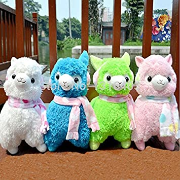 45cm Alpaca Peluches Toys With Earmuff Japan Alpacasso Plushies Toy Jumbo Plush Animals Toys For Children