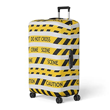 ffd3c60ae95d Amazon.com: Pinbeam Luggage Cover Yellow Police Tape Enclosing for ...