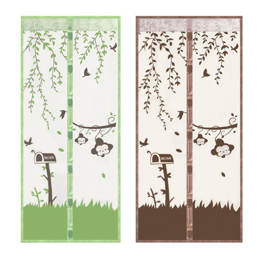 90/x 210/cm o 100/x 210/cm cortina de puerta antimosquitos para pasillos lzndeal Mosquitera magn/ética para puerta patios puertas malla muy fina
