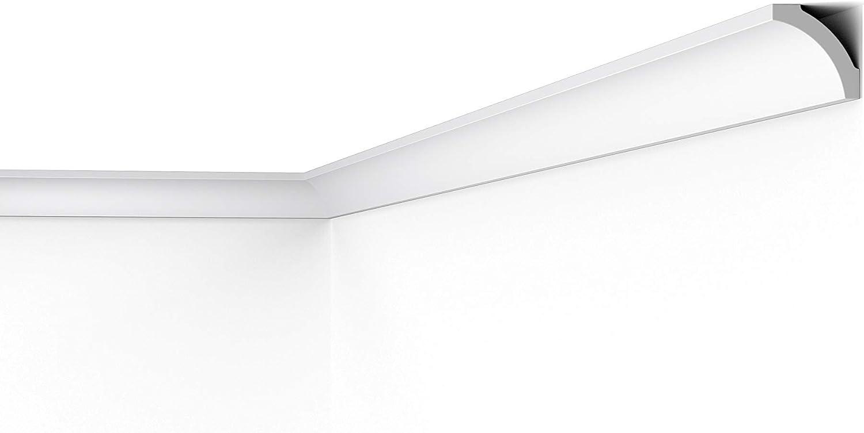 30 metros Cornisa / Moldura para techo / decorativa (NMC NOMASTYL® Plus - B5)