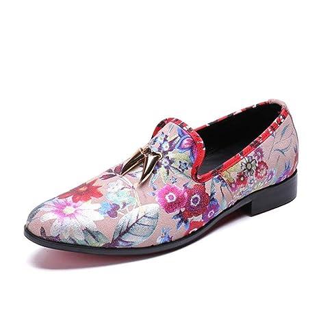 YAN Zapatos de Hombre Mocasines de Cuero, Primavera y otoño y Zapatillas sin Cordones Calzados