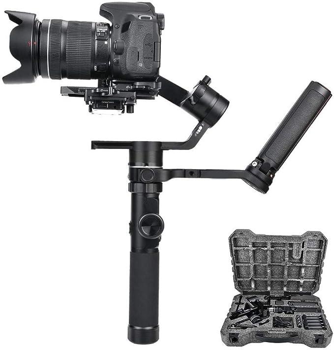 Stabilizzatore portatile con manico ergonomico con attacco per Fotocamera DSLR