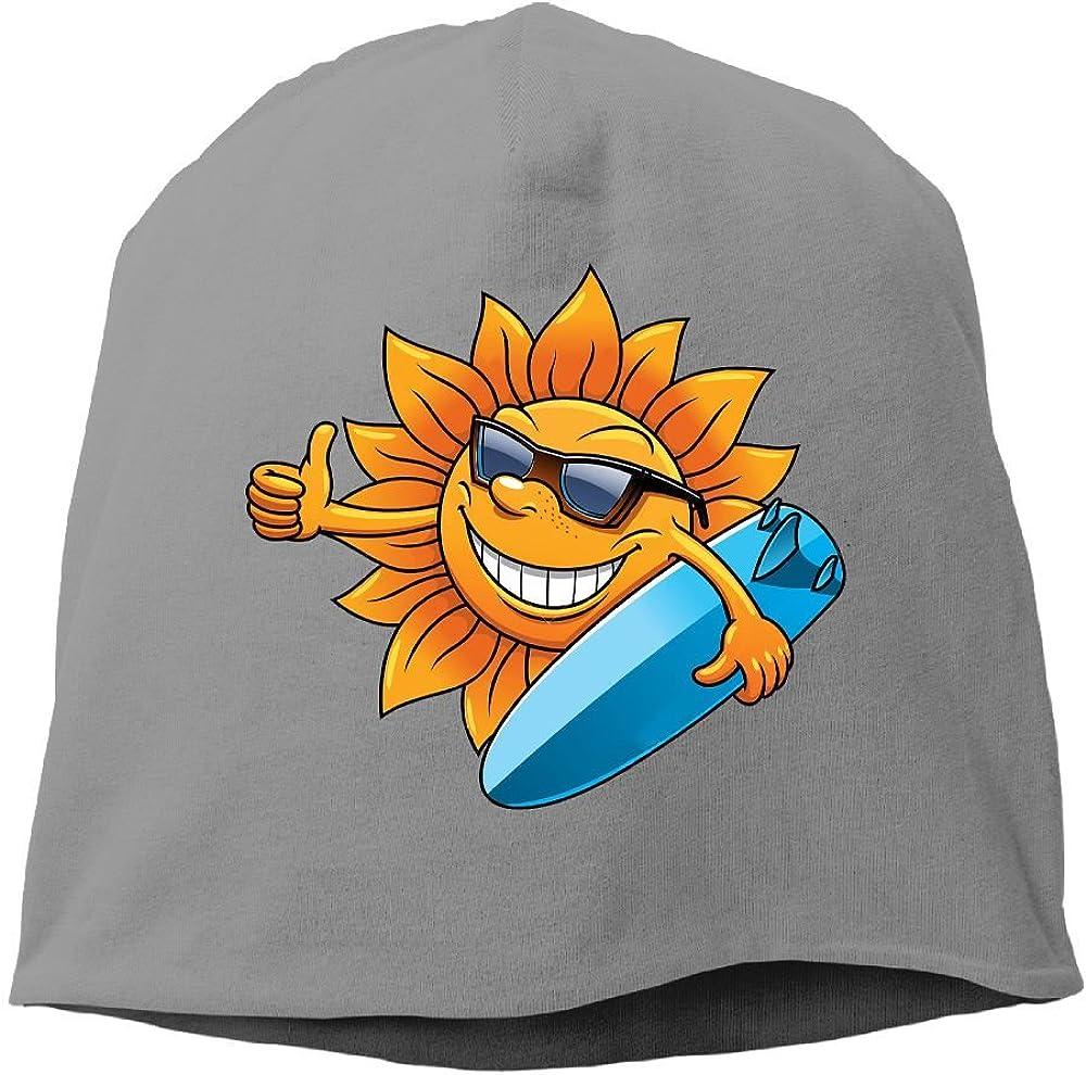 Headscarf Sun Surfing Hip-Hop Knitted Hat for Mens Womens Fashion Beanie Cap