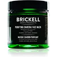 Brickell Men's Purifying Charcoal Face Mask - Natural & Organic - Activated Charcoal Mask With Detoxifying Kaolin Clay - 4oz