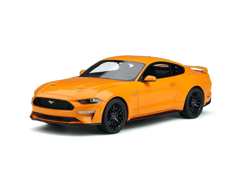 2019 ford mustang gt 5 0 orange fury 1 18 model car by gt spirit gt205
