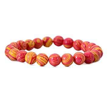 Amazon.com: Trendy Stretch Charm Bracelet Bangle Natural ...
