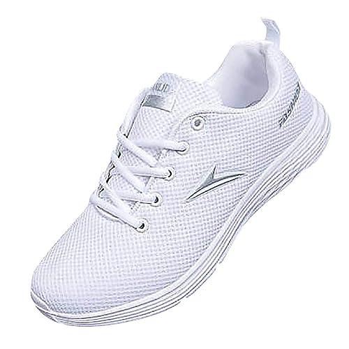 LHWY Zapatillas Mocasines de Deportes Zapatillas de Deporte de Moda para Hombre Malla Informal Zapatillas de Correr Transpirables Zapatillas de Punta ...