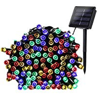 Qedertek 200-LED Solar Powered Christmas 72ft Fairy Lights (Multi Color)