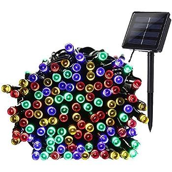 Qedertek Solar Christmas String Lights 72ft 200 LED Outdoor Fairy