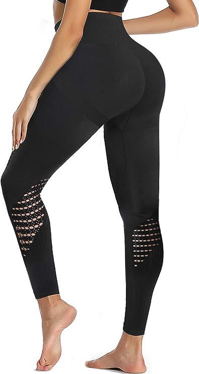 Amazon.com: TrainingGirl High Waist Workout Yoga Leggings for Women Running Gym Fitness Pants Tummy Control Seamless Leggings Tights (Black, Small): Clothing