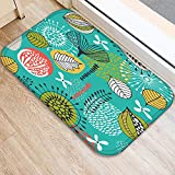 CqmzpdiC 40x60cm Tree Leaves Living Room Anti-Slip Door Mat Entrance Rug Kitchen Carpet Creative Design Soft Anti-Static Strong Wear Resistance Durable Comfortable Practical Home Carpet 9#