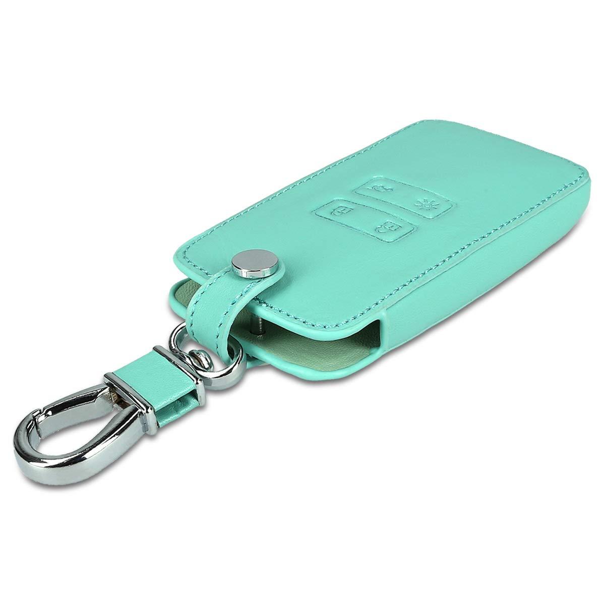 Cuero sint/ético kwmobile Funda para Llave Smart Key de 4 Botones para Coche Renault Solamente Keyless Go - Case para Mando y Control de Auto con dise/ño de Rally - Cubierta de
