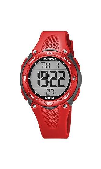 Calypso Reloj Digital para Unisex de Cuarzo con Correa en Plástico K5741/6: Amazon.es: Relojes