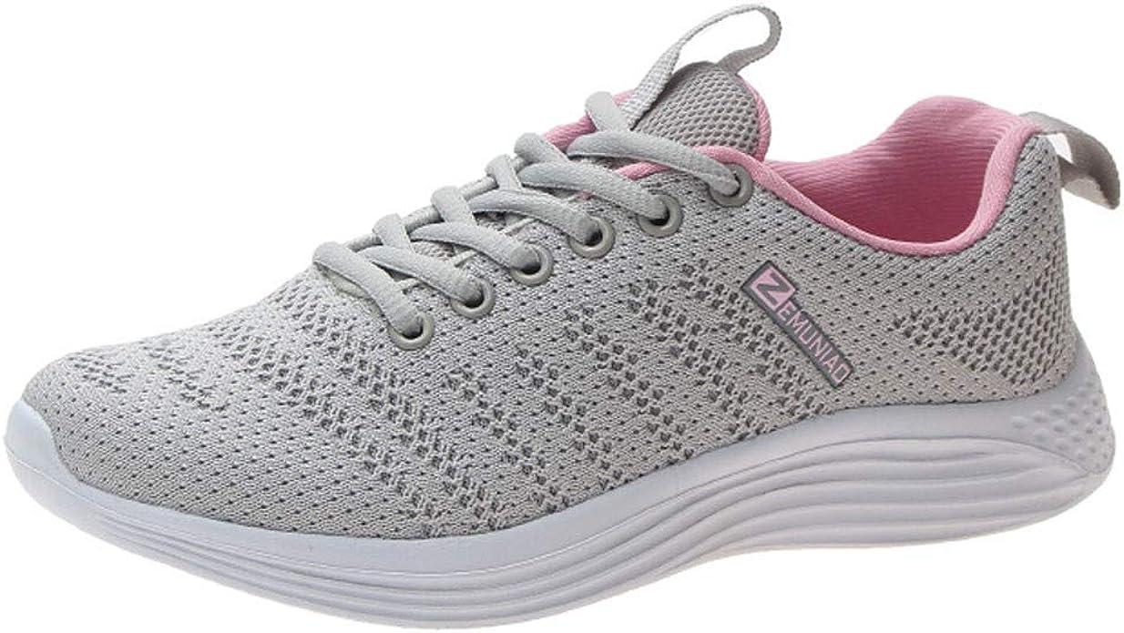 Plot - Zapatillas de Deporte para Mujer, ultraligeras, de Malla, Transpirables, Ligeras, para Exteriores, Color Gris, Talla 36 EU: Amazon.es: Zapatos y complementos