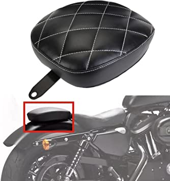 Black WINALL Motorcycle Driver Front Rear Passenger Seat Two Up Seat for Harley Sportster iron 883 1200 48 2004-2016