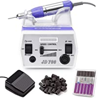 MAKARTT 30000RPM Electric Nail File Manicure Pedicure Kit Including Drill Bits and Foot Pedal Acrylic Nail Drill Machine…