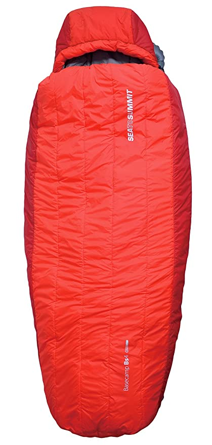 Sea to Summit Basecamp Thermolite BT 3 saco de dormir, color rojo, tamaño Large