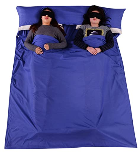 outgeek saco de dormir Liner algodón doble al aire libre viaje saco de dormir