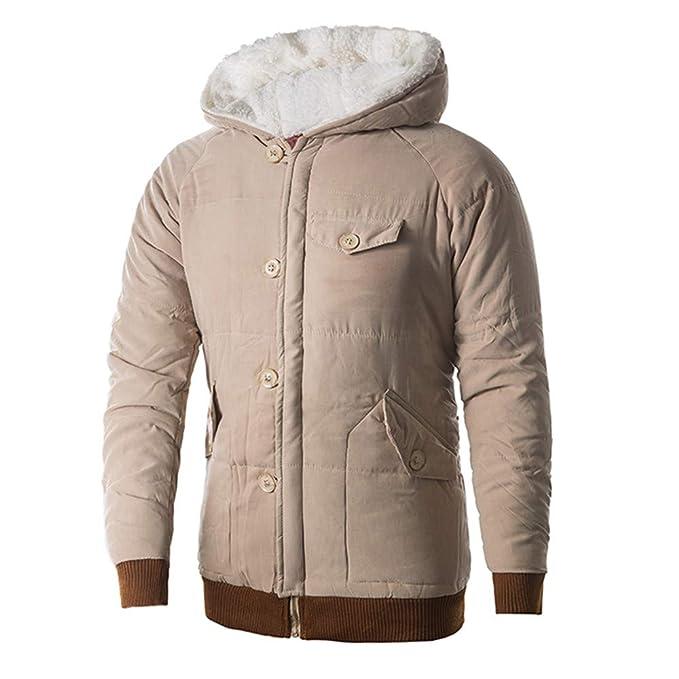 Yvelands Liquidación Abrigo de Invierno, Hombres con Capucha Bolsillo Manga Larga Abrigo Engrosamiento Camisa Jersey Top Blusa: Amazon.es: Ropa y accesorios
