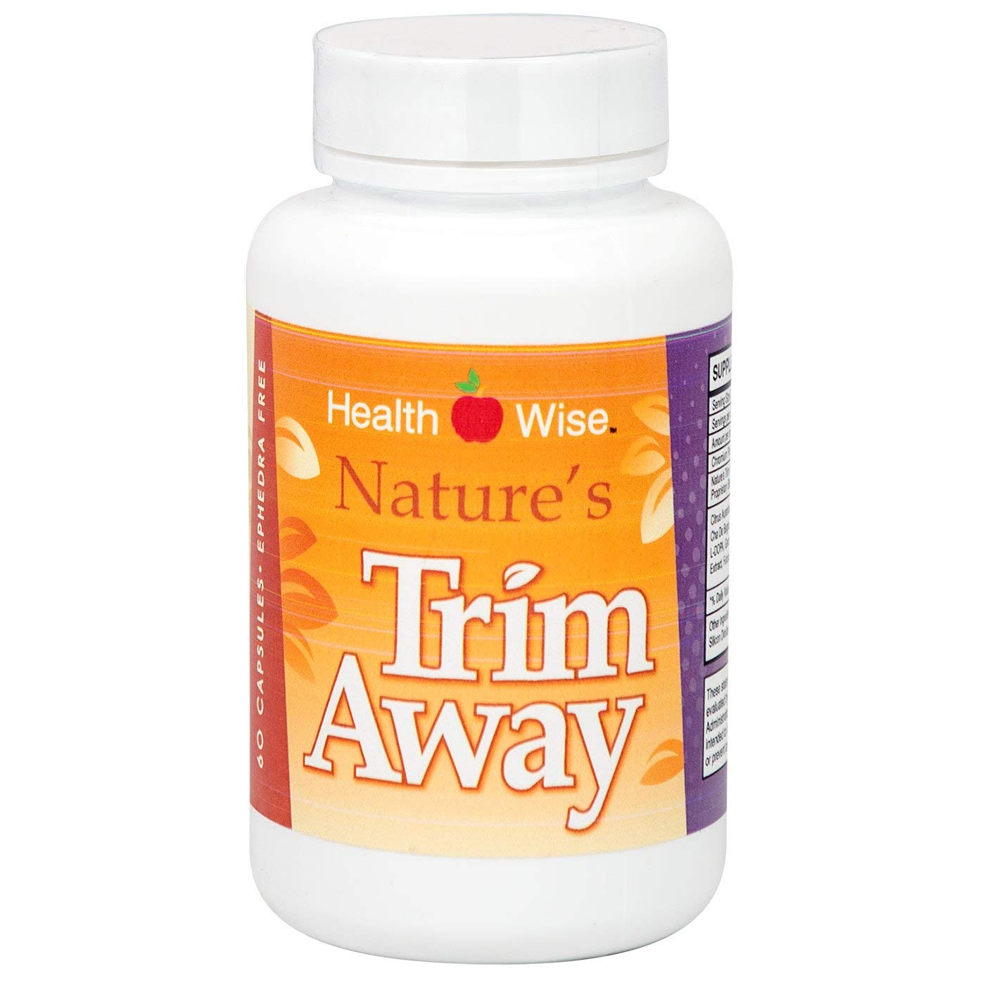 HealthSmart - Nature's Trim Away - Diet Supplement - Appetite Suppressant - Synergistic Formula - 60 Capsules by HealthSmart