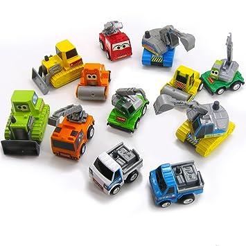 Buy Mini Car Truck Pullback Vehicle Models Pack Of 12 Kids Toy