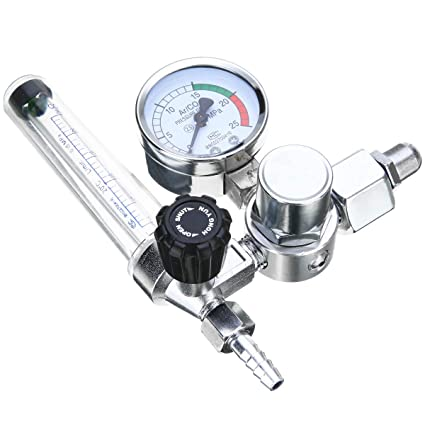 Gauged Earrings Sale - Metal Welding Gas Meter Argon Co2 Pressure Flow Regulator Mig Mag Weld
