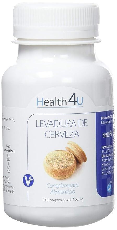 H4U Five Pack Levadura de Cerveza 150 comprimidos de 500 mg-: Amazon ...